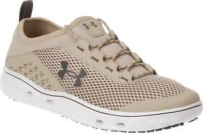 Under Armour Men's Kilchis Boat Fishing Shoes Desert Sand / White - New in (Men In Tweed)