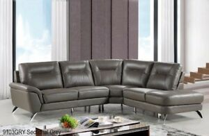 Stylish,Modern,Quality Genuine Top grain Leather Sectional W/cha