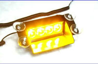 4 Amber Strobe LED windshield mount for cars/truck/tractor