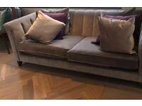 Brand New - Next Grey Velvet Sofa