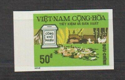 1975 South Vietnam Unissued Stamps Economic Development 50đ Imperf. MNH