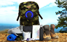 Camo Backpack with Bluetooth Speakers