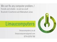 Computer repairs and support for Bracknell, Crowthorne and Wokingham areas