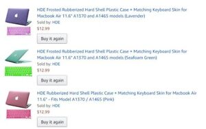 3 Frosted rubber uses Hard shell plastic cases for MacBook Air