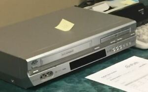 JVC VHS and DVD combo player