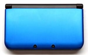 Nintendo 3DS XL (blue) with Zelda game and accessories