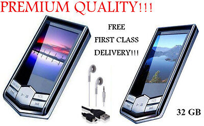 NEW BLACK 32GB MP3 4TH GENERATION MUSIC MEDIA PLAYER WITH MUSIC VIDEO PHOTO...