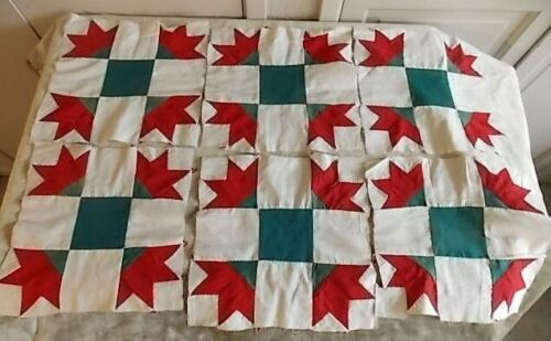 Antique Christmas Color Carolina Lilly Quilt Squares Hand-Pieced Project Piece