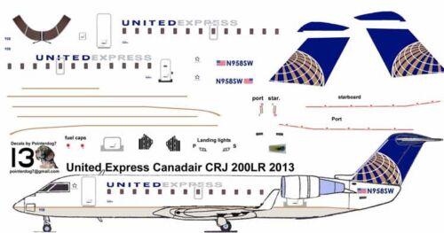 United Express CRJ 200 Pointerdog7 decals for Welsh 1/144 kit