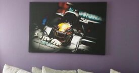 Lewis Hamilton F1 Canvas