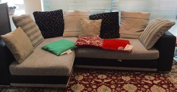 Large Corner Sofa with footstool
