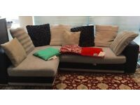 Large Corner Sofa with footstool