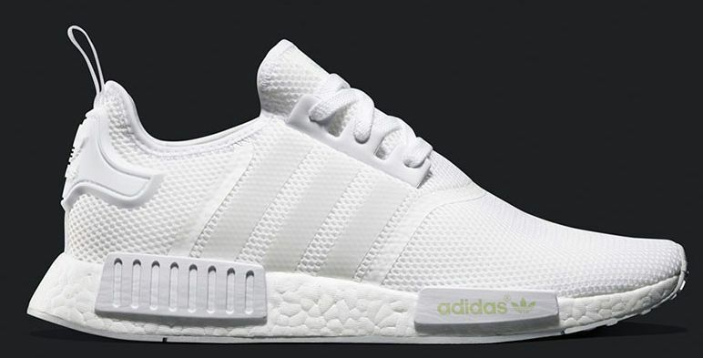 נעלי ספורט לגברים Adidas All White NMD R1 Boost Monochrome White  BA7245