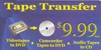 Convert Your VHS or Camcorder videos to DVD