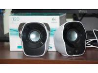 Logitech Z120 2.0 Stereo Speakers for Desktop PC & Laptop