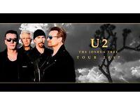 U2 Joshua Tree Twickenham Sunday 9th July 6pm x 4 tickets £187.00 each or ONO Blocks L22 & M31