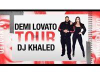X2 Demi Lovato seated tickets