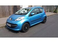 """Peugeot 107, blue, Automatic, new 15"""" alloys+tyres , upgraded sound system."""