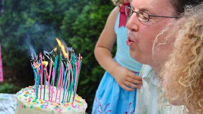 40 con Gas Decoración Tartas Cumpleaños Postres Feliz Cumpleaños Velas GB
