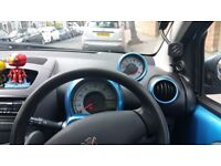 "Peugeot 107, blue, Automatic, new 15"" alloys+tyres , upgraded sound system."