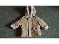 Baby boy 0-3 months warm jacket