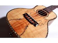 Deluxe Concert Ukulele- Marbled Mapel-Uku ,Guitar, Acoustic,Tenor,Soprano,