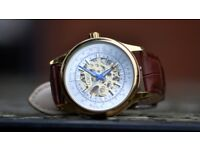 Lord timepieces Oxford watch Gold and Brown Leather Strap (Brand New)