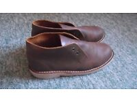 NEW man leather desert shoes size small 7