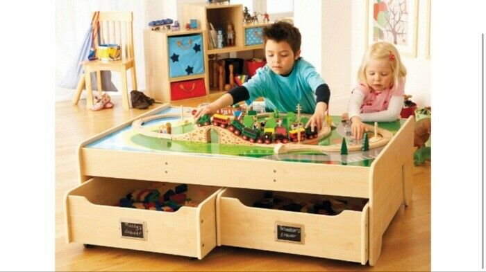 Kids Activity Play Table Wooden With Storage Drawers In Muswell Hill
