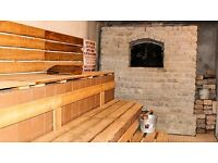 Leisure centre sauna