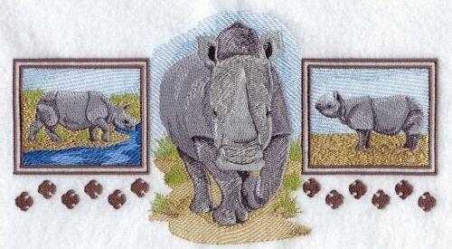 Embroidered Sweatshirt - Asian Rhino Trio A4484