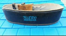 Weight training belt nitro muscle