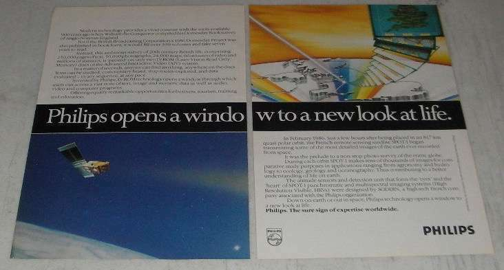 1988 Philips Technology Ad - Opens a Window to a New Look at Life