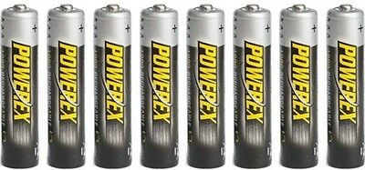 8 Pack PowerEx 1000mAh AAA NiMH Rechargeable Batteries Maha