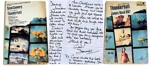THUNDERBALL DOMINO REPLICA LETTER - IAN FLEMING - JAMES BOND