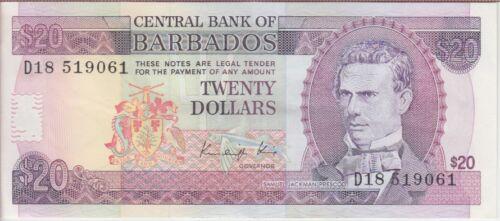 Barbados banknote  P. 39 20 Dollars,  EF  WE COMBINE
