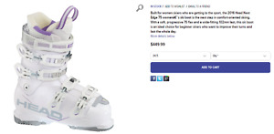 Womens / Girls Ski Boots, Skis and poles