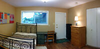 *FURNISHED Bright and Sunny bachelor suite -short walk to UVIC*