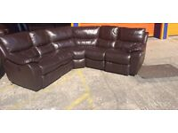 Harvey's ITALIAN LEATHER ELECTRIC RECLINING Corner sofa ex display model