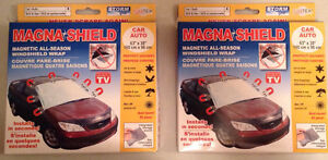 2 Magna Shield Magnetic All-Season Windshield Wraps for Cars
