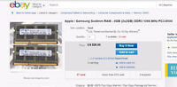 Samsung 4GB (2X2GB) DDR3 Laptop Ram