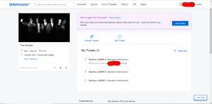 (SOLD) 2 Lawn Tickets to The Strokes (Toronto)