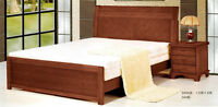 Solid Wood Queen Bed on sale