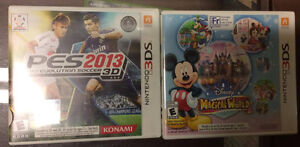 Nintendo 3ds Games! Soccer and Mickey Mouse!