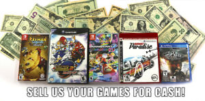 Sell us your used game for cash!