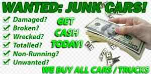 SCRAP JUNK CAR TRUCK BUYER CASH FREE SAME DAY PICK UP REMOVAL  London Ontario image 1
