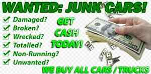 BUYING SCRAP JUNK TOTALED BROKEN OLD DAMAGED CAR TRUCK VEHICLE