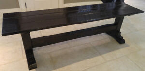 Solid Wood Rustic Bench NEW just made!