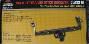 Brand New AcarTow plus Multifit trailer hitch receiver class III
