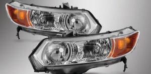 06-11 Stock Civic Coupe Headlights